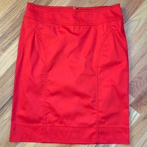 H&M Red Pencil Skirt Size 8 NWOT!!